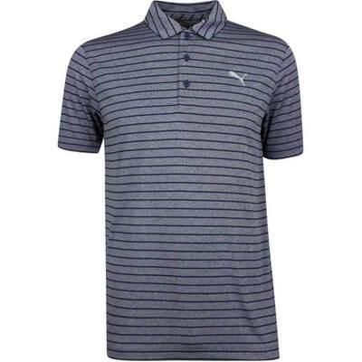 PUMA Golf Shirt Rotation Stripe Peacoat SS19
