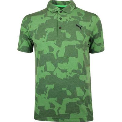 PUMA Golf Shirt Union Camo Juniper Green SS19
