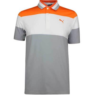 PUMA Golf Shirt Nineties Vibrant Orange SS19