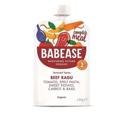 Babease Organic Beef Ragu 130g - Stage 2 - Box of 6