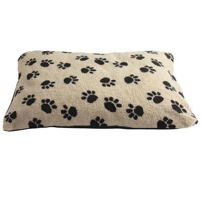 Lazy Bones Paw Print Fleece Dog Cushions