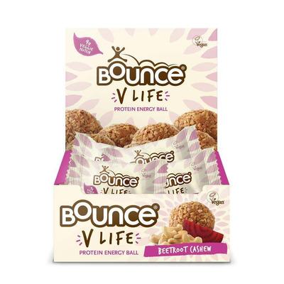 Bounce V Life Vegan Protein Beetroot & Cashew Energy Balls - Pack of 12