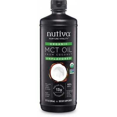 Nutiva Organic 93% MCT Oil 946ml