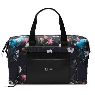 Ted Baker Holdall Hack Parrot Print Navy SS19