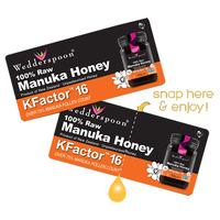 Honey on the Go - KFactor 16 Manuka Honey Snappacks 24's