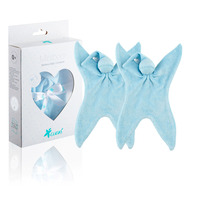 CUSKI Miniboo 2 Pack, Prem Baby Bamboo Comforter, as used within NHS - Choose your colour - Blue-ee