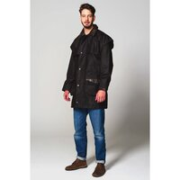 Hunter Outdoor Cumbrian Waxed Cotton Jacket (Free Tin of Wax) - XS Antique Brown