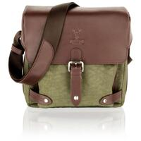 Woodland Leather Olive Country 9.0 Small Travel / Messenger Bag