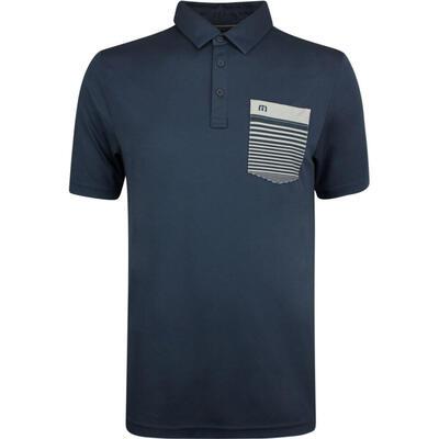 TravisMathew Golf Shirt Garcia Polo Blue Nights SS19