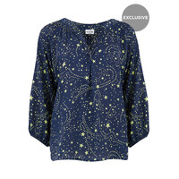 Exclusive Clevedon Silk Top - Galaxy Neon Lime