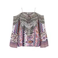 Gypsy Silk Printed Top - Peruvian