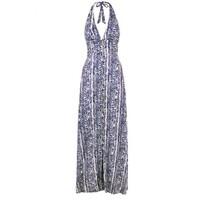 Kenya Halterneck Maxi Dress - Snake Print