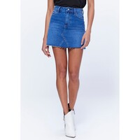 Aideen Denim Raw Hem Skirt - St Clair