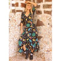 Flamenco Maxi Dress - Black