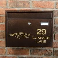 Large Steel Letterbox - The Salutation - Personalised