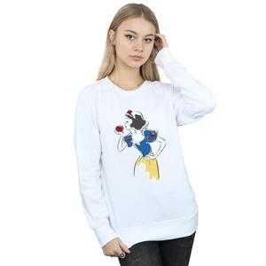 disney princess women's snow white apple glitter sweatshirt