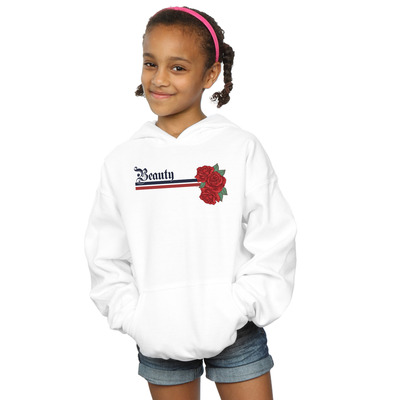 disney princess girls beauty and the beast belle stripes and roses hoodie