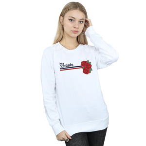 disney princess women's beauty and the beast belle stripes and roses sweatshirt