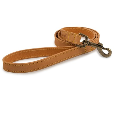 Ancol Timberwolf Mustard Leather Dog Lead