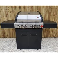 Draco Grills Ascona 4 Burner Stainless Steel Gas Barbecue with Cabinet and Side Burner [barbecue only]