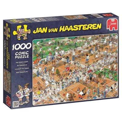 Jumbo 17076 Jan Van Haasteren   The Tennis Court Jigsaw Puzzle (1000 Pieces)