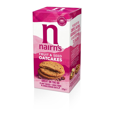 Nairn's On The Go Fruit & Seed Oatcakes 225g
