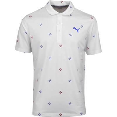 PUMA Golf Shirt Ditsy Polo Bright White AW19