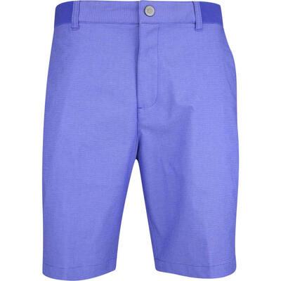 PUMA Golf Shorts Riviera Micro Stripe Dazzling Blue AW19