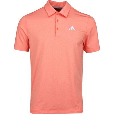 adidas Golf Shirt Novelty Heather Polo Hi Res Coral AW19