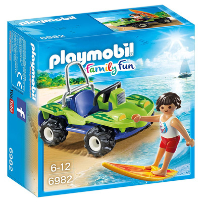 Playmobil Surfer With Beach Quad
