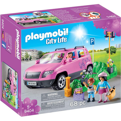 Playmobil Family Car With Parking Space With Removeable Windshield