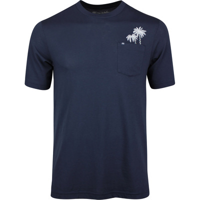 TravisMathew Golf T Shirt Frosty Air Mood Indigo AW19