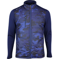 RLX Golf Jacket - Quilted Coolwool - French Navy Camo SS20