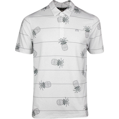 TravisMathew Golf Shirt Stacked Deck Polo White SS20