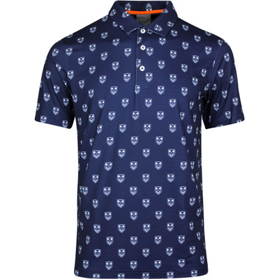 PUMA Golf Shirt Skull X Print Polo Peacoat LE SS20