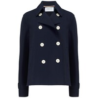 Cropped Trench Jacket - Navy