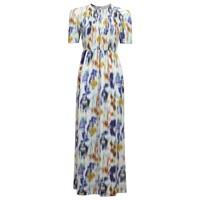 Adamaris Maxi Dress - White Blue Floral
