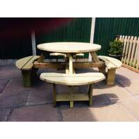 Churnet Valley &pipe; Westwood Round Picnic Table