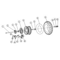 Image of Chaos GT1600 Electric Scooter Front Wheel Axle