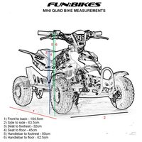 Image of FunBikes 49cc Orange Kids Mini Quad Bike