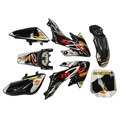 M2R KX140F Black Pit Bike Plastics - CRF50 - Plastics / Bodywork / Graphics