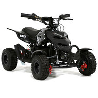 Image of FunBikes 800w Black Electric Kids Mini Quad Bike