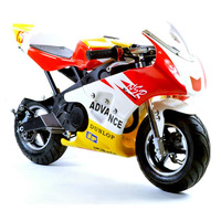 Image of FunBikes MT4A 50cc 46cm Red Yellow Mini Moto Racing Bike
