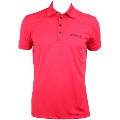Galvin Green Mason Tour Ventil8 Golf Shirt Electric Red Black