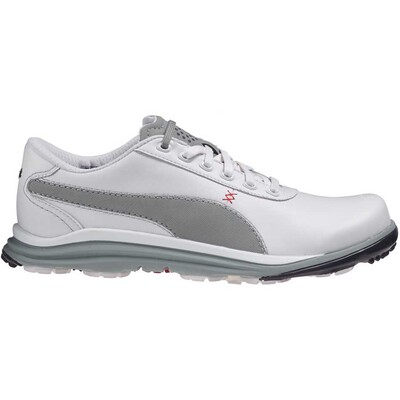 Puma BioDrive Leather Golf Shoes White Limestone AW15
