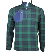 RLX Mock Neck Zip Golf Jumper Blackwatch Tartan AW15