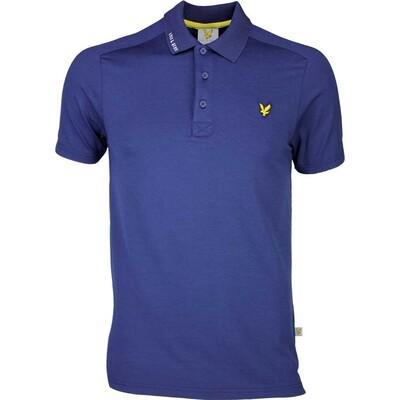 Lyle Scott Golf Shirt Hawick Tech Tour Navy SS17