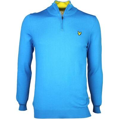 Lyle Scott Golf Jumper 8211 Tolmount Merino Zip Borders Blue SS16