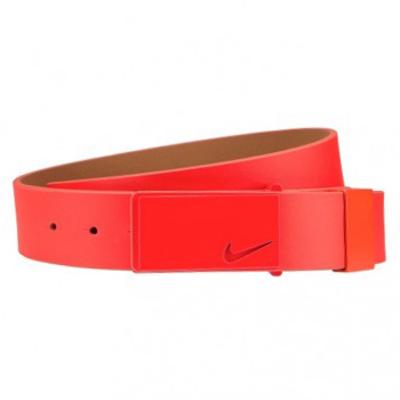 Nike Golf Belt Sleek Modern Tonal Plaque Bright Crimson SS16