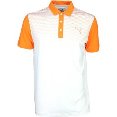 Puma Golf Shirt GT Colourblock Fade Vibrant Orange SS16